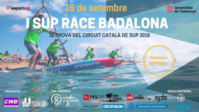 Cartel Badalona. Eventos de SUP Race