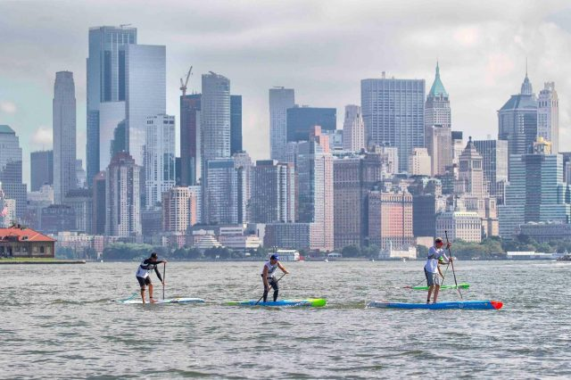 Carrera muy reñida del New York SUP Open