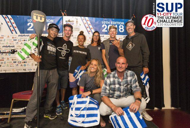 Ganadores del 2º día del SUP11 City Tour 2018