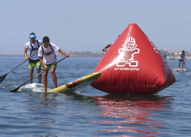 Giro de boya del  III Discover Huelva SUP Festival