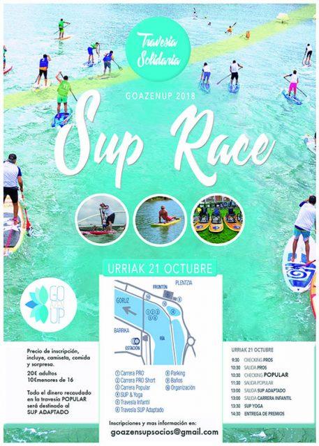 Cartel GOAZENUP: Stand Up Paddle adaptado