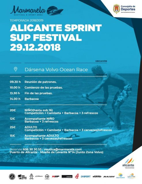 Cartel Alicante Sprint SUP Festival