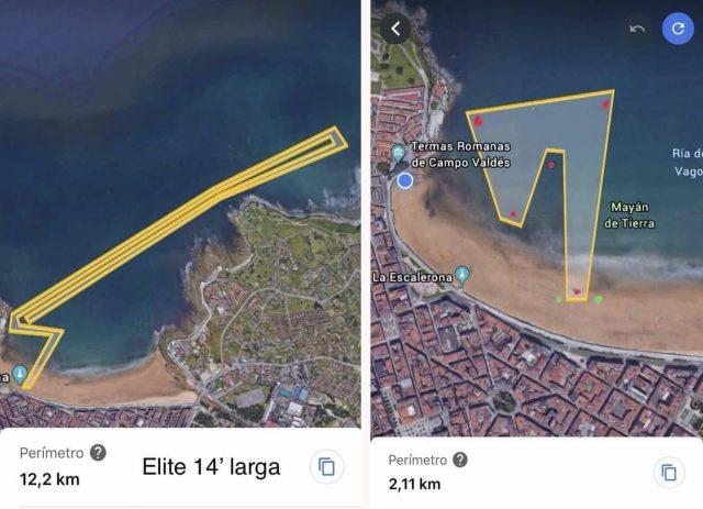 Recorridos SUP Race Villa de Gijón