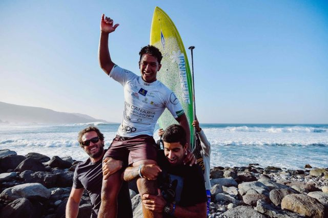 Poenaiki ganador del Pro-am Gran Canaria. SUP Surf APP World Tour 2018