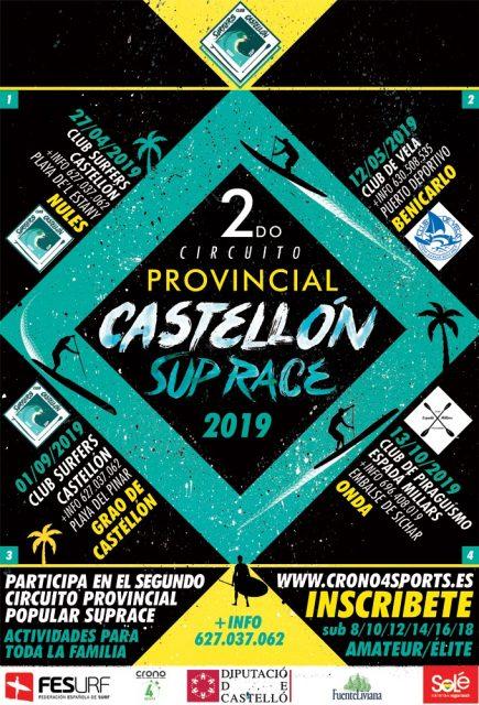 Cartel Circuito Provincial Diputación Castellón SUP Race 2019