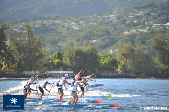 Salida Air Tahiti Nui Royal Paddle Race