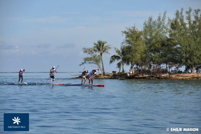 Mucho calor en el Air Tahiti Nui Royal Paddle Race