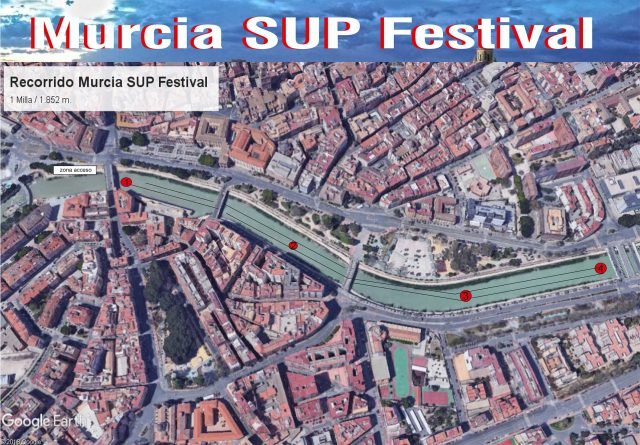 recorrido Murcia SUP Festival