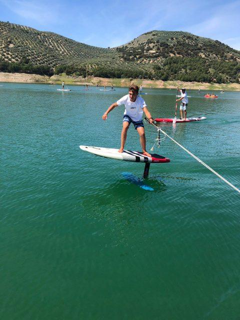 Foil en el Iznájar SUP Lago de Andalucía
