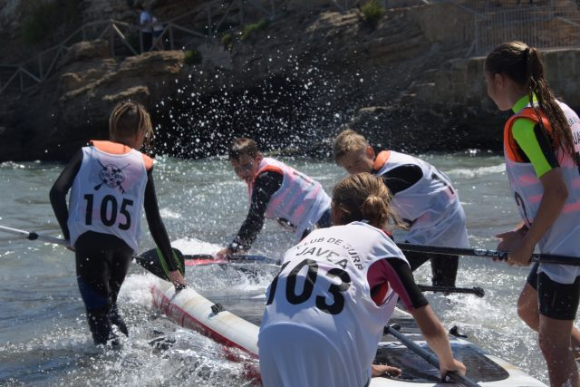 Disfrutando en el agua. SUP Talent 2019