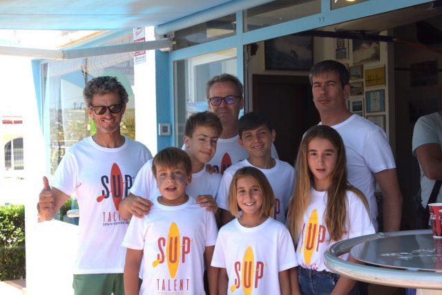 Entrenadores y niños. SUP Talent 2019