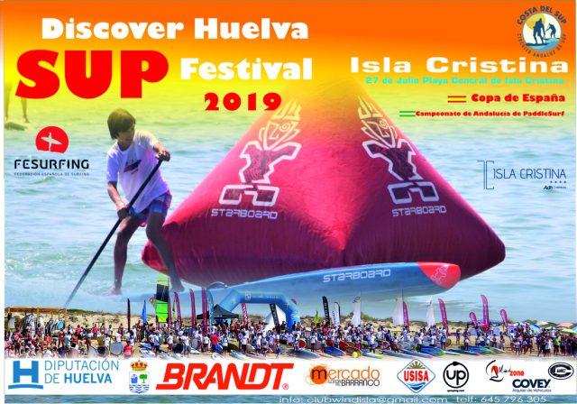 Cartel Discover Huelva SUP Festival 2019