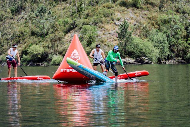 Mucha acción durante todo el recorrido del WaterWayRace SUP