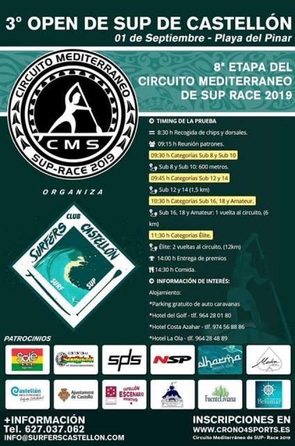 Cartel 3º Open de SUP de Castellón