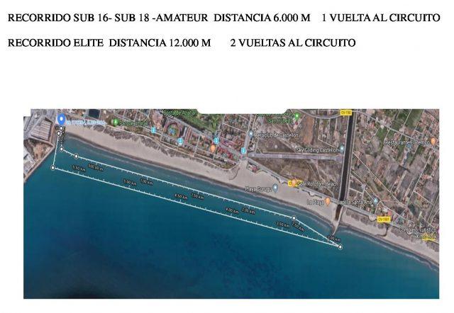 Distancias SUB16, Amateur y Elite 3º Open de SUP de Castellón