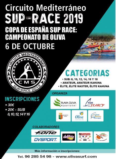 Cartel Campeonato SUP Race de Oliva