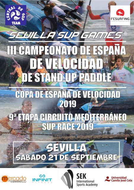 Cartel Sevilla SUp Games . Stand Up Paddle en Sevilla