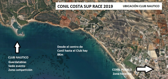 Ubicación Conil SUP Race