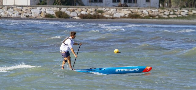 Rafa SIrvent. Gran Carrera del Mediterráneo SUP Race