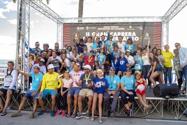 Participantes de la Gran Carrera del Mediterráneo SUP Race