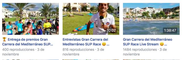 Vídeos de Up Suping durane la Gran Carrera del Mediterráneo SUP Race