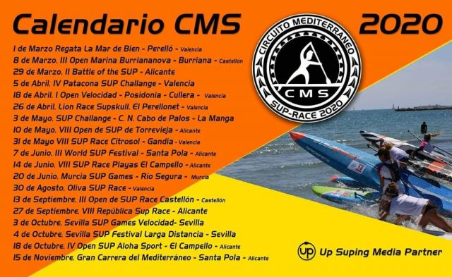 Calendario del Calendario Circuito Mediterráneo de Stand Up Paddle