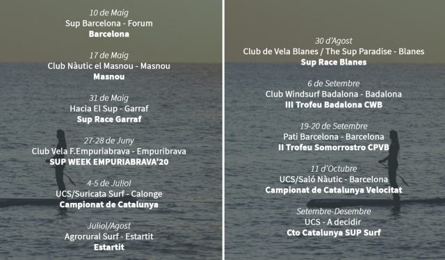 Calendario 20202 Unió Catalana de Surf