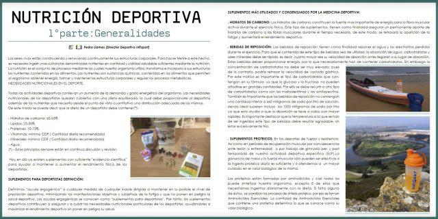 Artículo de Nutrición Deportiva en revista digital Up Suping