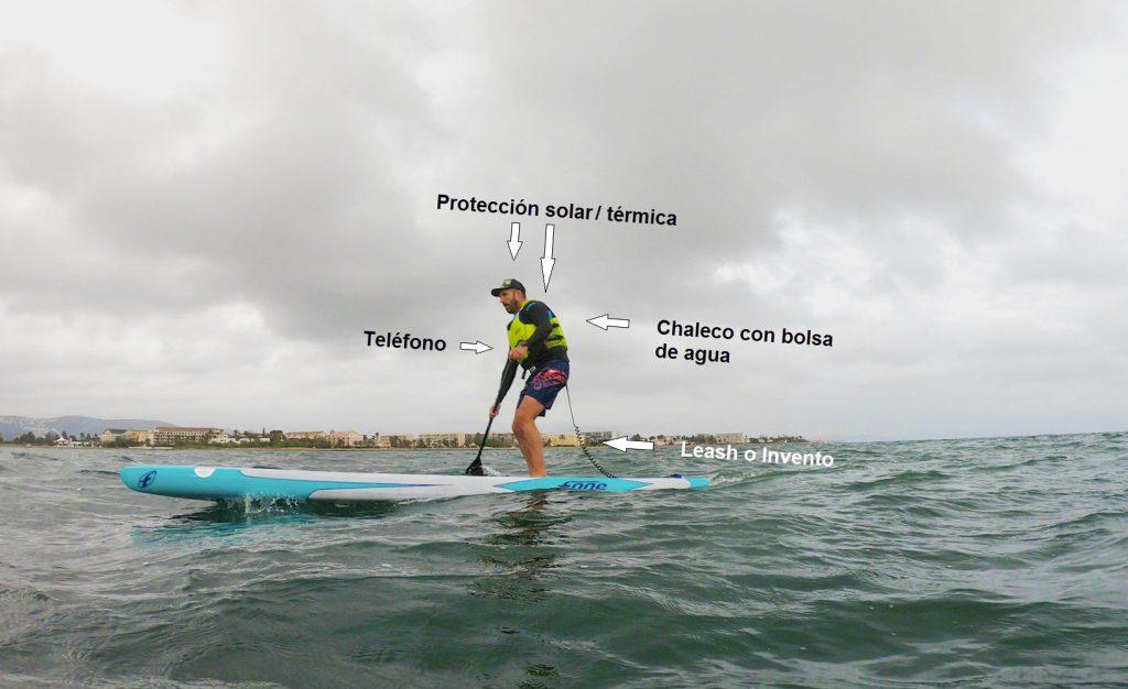 Elementos importantes para llevar en el agua. Club Surf Dénia . Paddle Surf