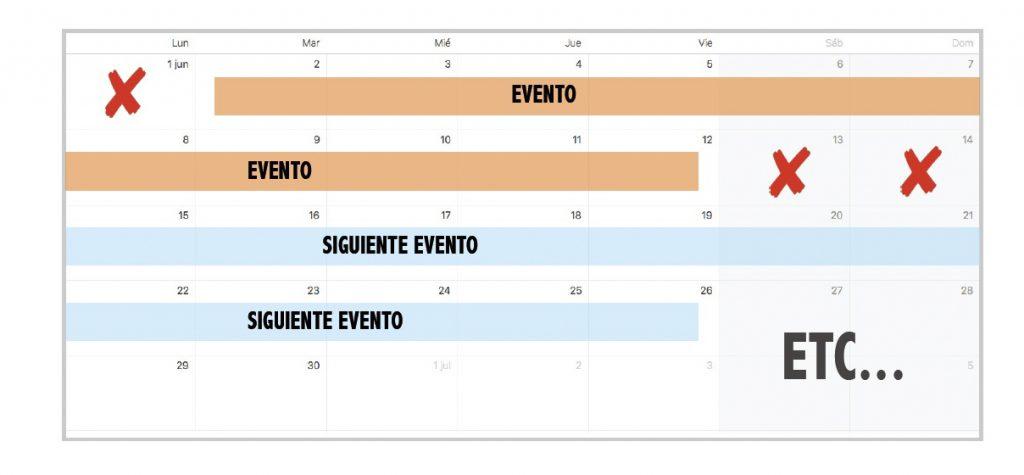 Calendario la Liga Virtual de SUP