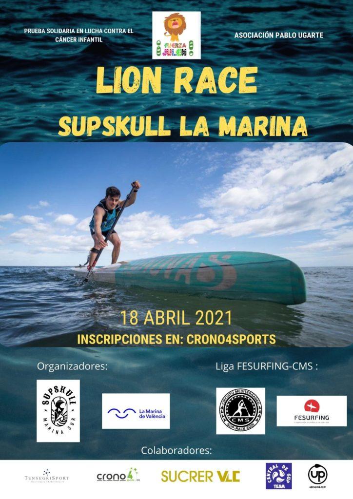 Cartel Lion Race Sup Skull  La Marina