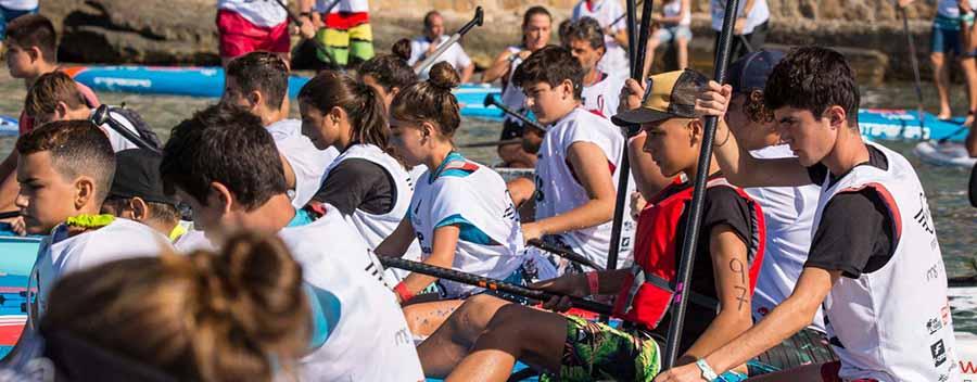Esperando la salida en competición. Campus SUP Race Jóvenes Promesas
